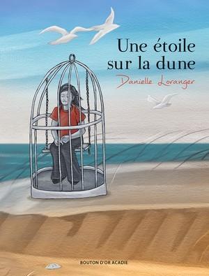 Fille dans un cage sur la plage
