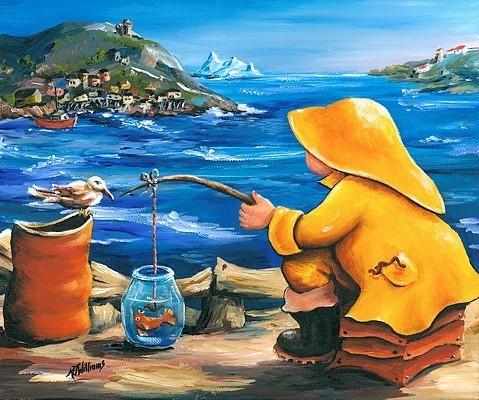 pêcheur poisson rouge port de saint-jean iceburg atlantique