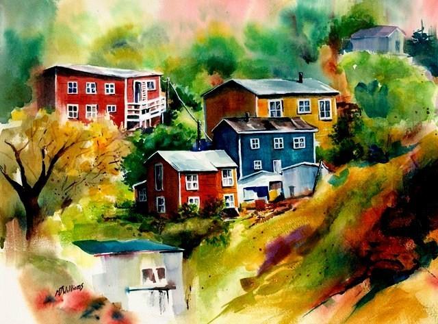 maisons sur une colline